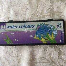 Water colour paints plus 3 watercolour Pads