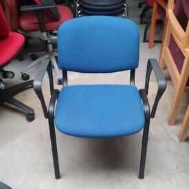 Teknik side chair in blue
