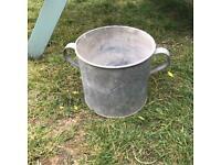 Vintage galvanised tub planter plant pot