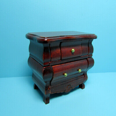 Dollhouse Miniature Wood Victorian Night Stand Side Table in Mahogany T3266