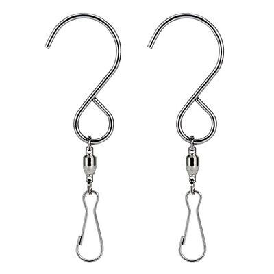2pcs Swivel Hooks Clips For Hanging Wind Spinners Wind Chimes Crystal Twisters