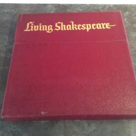 Living Shakespeare 6 x LP Box Set including individual playbooks