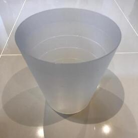 IKEA Waste Bin - White Plastic Semi-Opaque