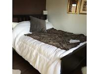Ikea hemnes brown bed frame with mattress