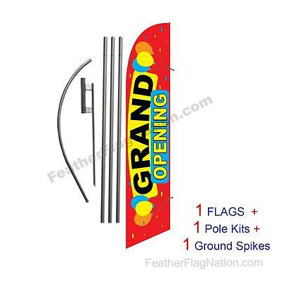 Grand Opening Balloons 15 Feather Banner Swooper Flag Kit With Polespike