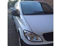 mercedes vito 2007 lovely drive mot no faults white van 2 side loading doors