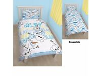 Disney Frozen Olaf Reversible Single Duvet Cover Set