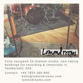 Lomond Rooms - Professional Recording and Rehearsal Studio. SE5