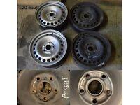 VW Passat metal rims 2x (black ones)