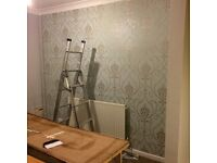 £45 per feature wallpaper (SMART WALLZ) WALLPAPER SPECIALISTS. CALL/TEXT ANYTIME.