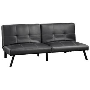 SAUDER Bergen Transitional Futon  Black (New Other)