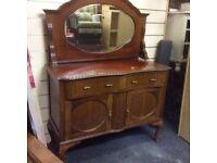 Reduced vintage queen ann sideboard