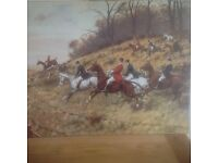 "Print / picture of a hunt by G Wright "" Fry Cry"" size 71cm X 56cm"