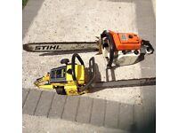 stihl and McCulloch chainsaws