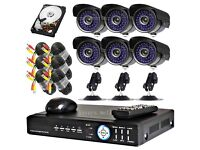 ��� 6 CCTV Dome/Bullet Cameras, 8 Channel DVR with 2TB Hard Drive (Full HD System)