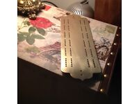 Antique brass cribbage board in lovely condition