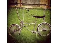 Lowrider chopper chrome show bike