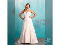 Allure Women w373 size 18 wedding dress in champagne