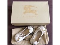 Brand New Leather House Check Ballerina - Size 23
