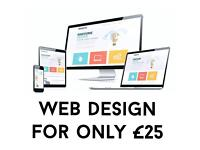 WEB DESIGN | ONLY £25 | PROFESSIONAL SERVICE!
