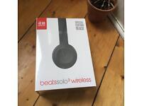 Beats wireless solo 3 matte black headphones.