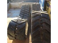 Rubber Tracks for Mini Excavator, Kubota KX61-2, Size 300x52.5Nx76, Heavy Duty, as new, 10hrs work