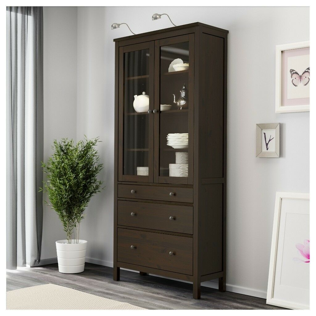 Rpr 275 ikea new cabinet with 3 drawers glass veranda dresser commode local delivery free