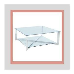 GLASS TOP AND BOTTOM WITH POLISHED SS FRAME (GY2413)