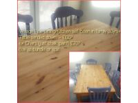 Vintage Dining Conservatory Table - 6FT Solid Wood ** Matching Chairs also available**