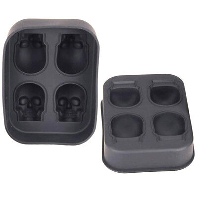 Skull Ice Molds Cocktails Whisky Cube Tray Halloween Party DIY Spooky Mould