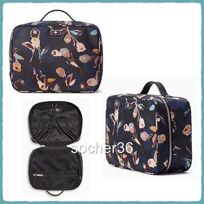 KATE SPADE DAWN PAPER ROSE TRAVEL COSMETIC CASE BAG WLRU5563 NWT $139