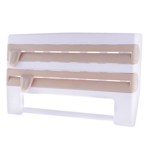 Portarotoli da Parete in Plastica 4 in 1 Porta Rotolo per Pellicola,