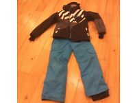 O Neill Ski Jacket and Pants - boys age 11-12 size 152cm