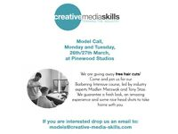 Free Hair Cuts! Male Models needed for Barbering Course at legendary Pinewood Studios!