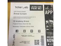 2 x reduced priced tickets for Primal Scream at Bristol 02