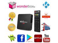 MXQ Pro 64 bit Quad Core 4K Kodi 17.6 Krypton Android 6 Marshmallow Smart TV Box