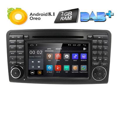 Android 9.0 Autoradio DVD GPS Navi für Mercedes Benz ML/GL-Klasse W164 X164 BT