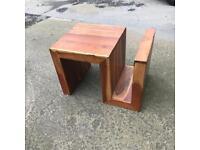 Hard wood funky table