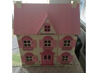 ELC dolls house complete with full furnishing