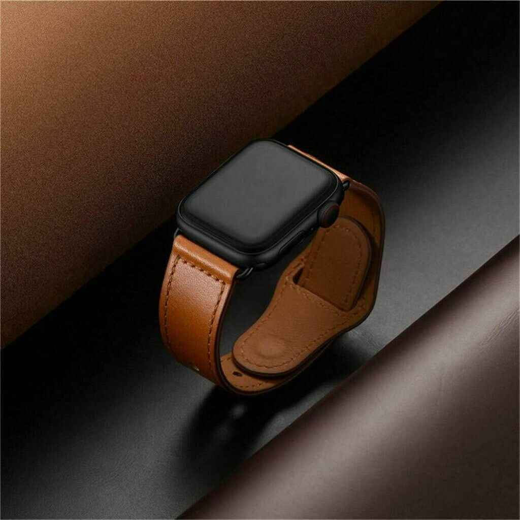 Men Women 40mm/44MM Genuine Leather Watch Band Strap for App