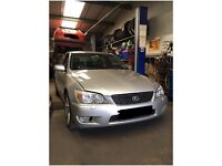 Excellent Lexus IS200, low mileage.