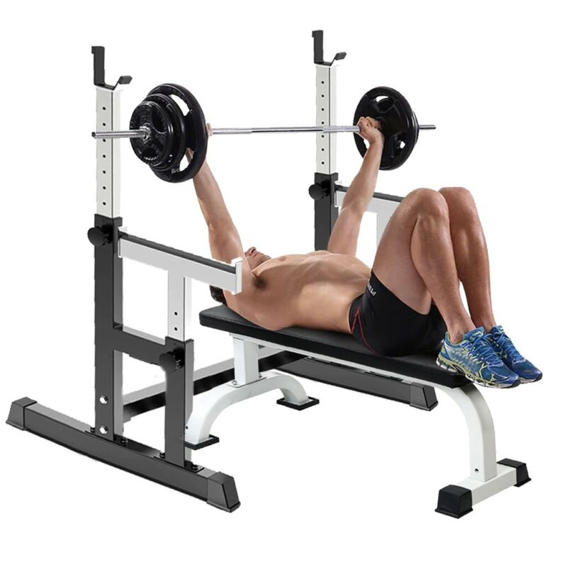 Squat stand Weight Bench Press Barbell Lifting Squat Rack Bo