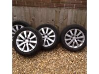 """16"""" alloy wheels with brand new tyres on."""