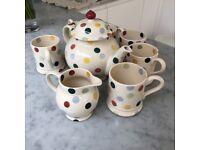 Emma Bridgewater complete tea set with 6 mugs