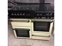 Leisure Gas Range Cooker; double oven 5 hob colour cream