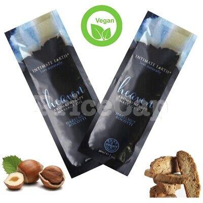 Intimate Earth Aceite de Masaje Avellana Biscotti 30ml, 100% Puro Vegano