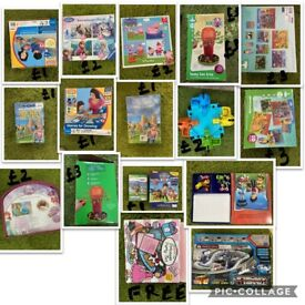 Puzzles, toys and books - excellent condition