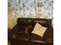 Brown Sienna 3 and 2 seater settee