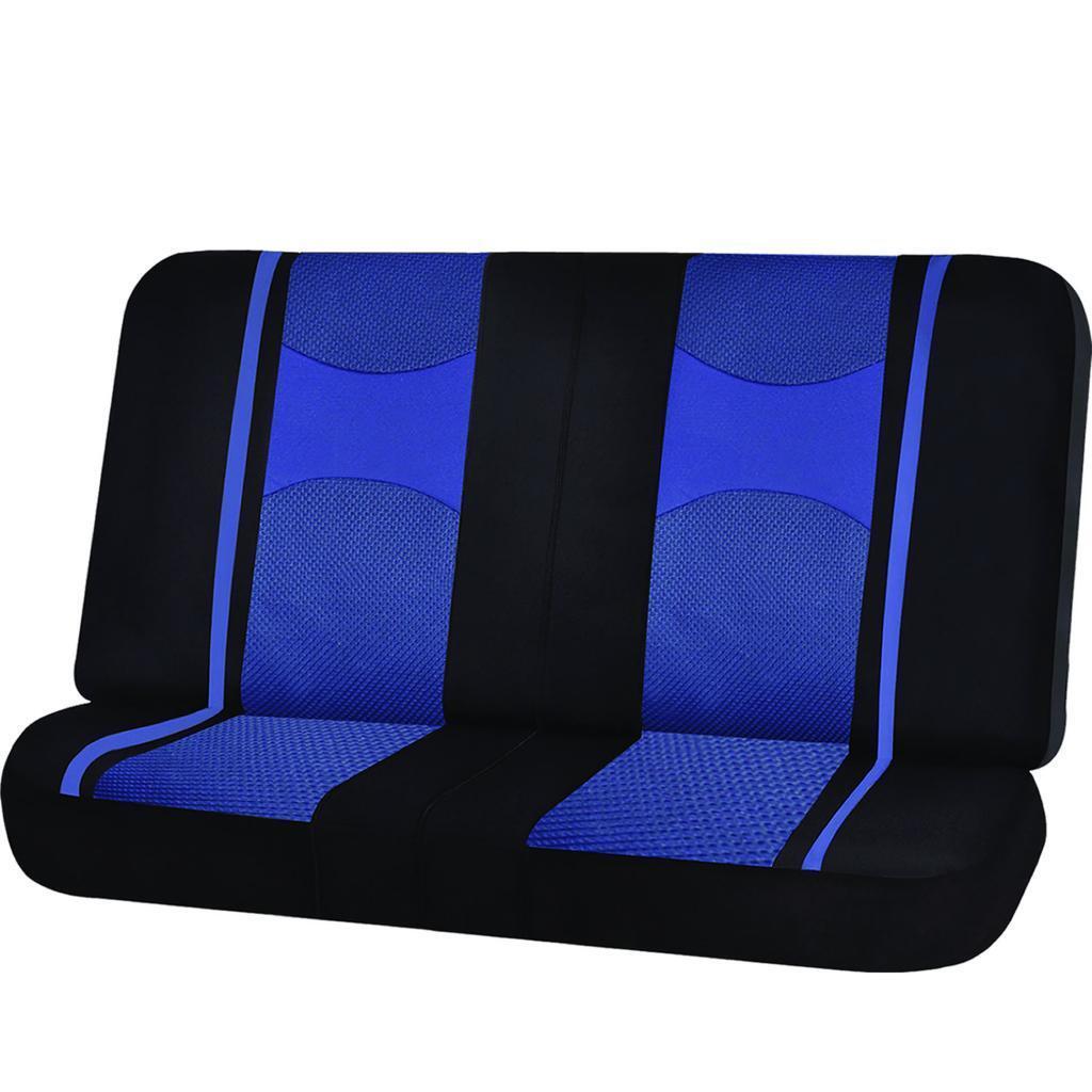 RED /& BLACK POLY MESH NET 2PC SPLIT BENCH SEAT COVER for for GMC YUKON SIERRA