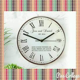 Rustic Message Glass Clock 🕛